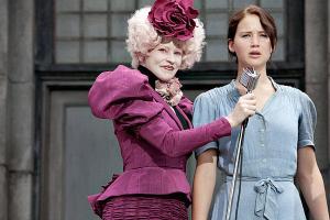 Katniss e sua felicidade ao se voluntariar para os jogos no lugar da irmã